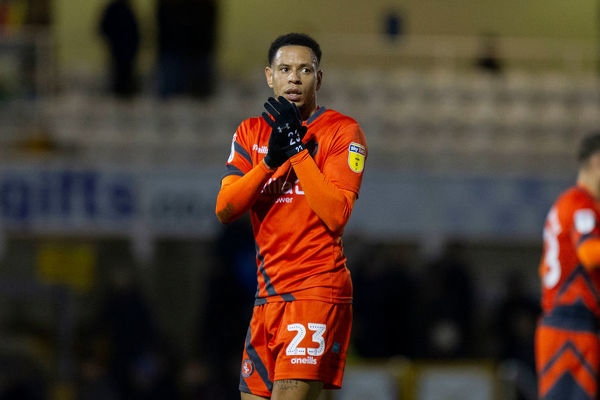 Nathan Tyson of Wycombe Wanderers claps the fans after the Sky Bet League 1 match between Bristol Rovers and Wycombe Wanderers at the Memorial Stadium, Bristol, England on 19 January 2019. Photo by Mark Hawkins / PRiME Media Images